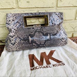 Michael Kors Snake Clutch Evening Bag Purse